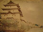 Antique 19th Century Chinese Or Japanese Architecture Building China Old Photo