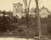 Antique Early Vermont Vt Episcopal Institute Box Remington Stereoview Photo