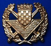 Croatia Army Ikom Zagreb Large Officers Gilded Hat Cap Officerand039s Cap Hat Badge
