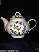 Portmeirion Botanic Garden Individual Teapot 7 Oz Speedwell And Insects