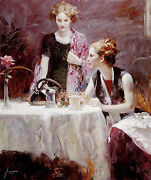 Pino Daeni After Dinner Hand Enbellished Giclee Canvas S/nw/coa Ebaylow-offer