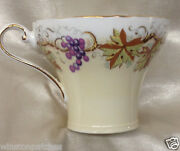 Aynsley England C2041 Cup 8 Oz Grapes And Leaves Yellow And White C1203 5244