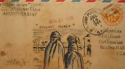 Vintage Ww2 Tehran Iran Trench Art Painting 1564 Broadway Times Square Ny Lover