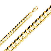 2.2mm- 14mm 14k Solid Yellow Gold Cuban Link Women/ Menand039s Necklace Chain 8-30