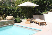 New Wooden 9feet Round Market Umbrella Any Color Sunbrella Fabric Swatch Pulley