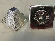 1 Kilo Yps 3d 999 Fine Silver Aztec Pyramid Yeagerand039s Poured Silver Hand Poured