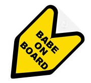 Jdm Wakaba Badge Babe Not Baby On Board Car Decal Leaf Not Vinyl Sticker