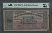 New Foundland Nf-7b 25andcent 1911-1912 St Johnand039s Govt Cash Note Pmg 25 Net Vf Wlm1201