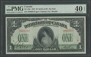 Canada Dc-23a 1917 1 Series A-h Xf Pmg 40 Exceptional Paper Quality Wlm1205