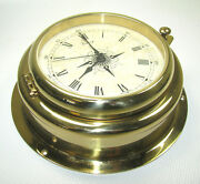 Victory Ba630 Maritime Clock Brass 4 100mm Dial From Germany 135-237