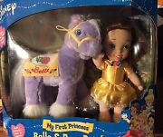 Disney My First Princess Belle And Rose Petal Plush Horse Soft Doll New 2002