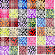 Mosaic Tile Stickers Transfers For 100mm X 100mm / 4 X 4 / 4 Inches X 4 Inches