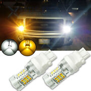 31-smd Led Bulbs 3157 4157 Dual-color Switchback Turn Signal Drl Parking Lights