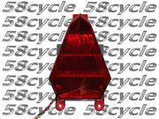 2006-2007 R6 Red Rear Brake Tail Light Taillight Led Signal Integrated