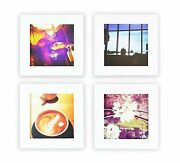 Instagram Frames Collection Set Of 4 4x4-inch Square Photo Wood Frames White
