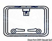 Oceansouth Boat Marine Hatch Protection Cover Rectangular Blue 580x460mm