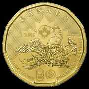 2016 Canada Olympic Lucky Loonie 1 Coin Unc. For Rio Brazil Summer Olympics