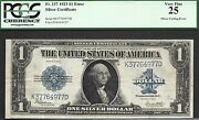 1 1923 Silver Cert=cutting Error=rare Large Size Mistake=2 Notes=pcgs Vf 25