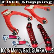 Red Front Upper Camber Kit+rear Camber+rear Lower Control Arm For96-00 Civic Ek