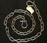 Stainless Steel 316 Anchor Chain 10mm Or 3/8 By 15and039 Long With Quality Shackles