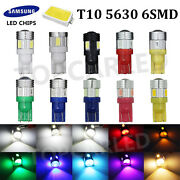Lots T10 Multi-color Side Wedge Samsung 5630 6smd Led Backup Light Bulbs 158 192