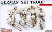 Dragon 1/35 6039 Wwii German Ski Troops 4 Figures W/photo-etched Parts