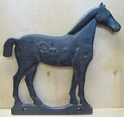 Old Cast Iron Figural Horse Windmill Weight Double Side Decorative Farm Barn Art