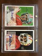 2009 Topps National Chicle Jerry Rice And Joe Montana Auto Painted Autograph