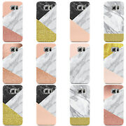 Geometric Marble Collection B Hard Case Cover For Samsung Galaxy Mobile Phones