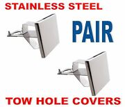 Tow Pin Cover Set - Stainless Steel Pair