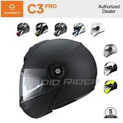 New Schuberth C3 Pro Motorcycle Tour Helmet | All Sizes And Colors | Free Shipping