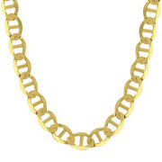 14k Solid Yellow Gold Chain Flat Mariner Necklace 1.5mm-7.7mm 16-24