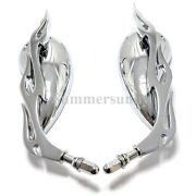 Chrome Teardrop Motorcycle Parts-rear View Custom Mirrors For Harley Motorbikes
