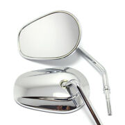 Custom Motorcycle Parts-rear View Mirror For Harley Chrome For Harley Davidson