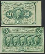 Pc6, 9c8 10¢ And 50¢ Postage Currency Notes -- Gem Unc On Both -- Bt2743