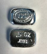 1/2 Troy Ounce Hand Poured 999 Silver Bullion Nugget By Yps Yeagerand039s