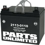 Parts Unlimited 2113-0110 Agm Factory Activated Maintenance-free Battery U1-32