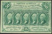 Pc8 50¢ Postage Currency -- Crisp Unc -- With Light Handling Bt2931