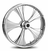 Rc Components Chrome Helo 16 Front Wheel And Tire Harley 08-17 Flh W/o Abs