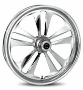 Rc Components Chrome Crank 18 Front Wheel And Tire Harley 08-17 Flh/t W/ Abs