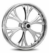 Rc Components Chrome Majestic 21 Front Wheel And Tire Harley 07-16 Fl Softail