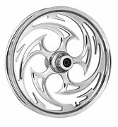 Rc Components Chrome Savage 18 Front Wheel And Tire Harley 07-16 Flst W/ Abs
