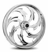 Rc Components Chrome Assault 19 Front Wheel And Tire Harley 07-16 Flst W/ Abs