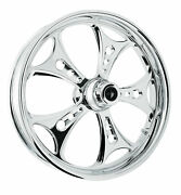 Rc Components Chrome Holeshot 18 Front Wheel And Tire Harley 08-17 Flh W/o Abs