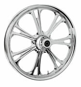 Rc Components Chrome Epic 21 Front Wheel And Tire Harley 07-16 Flst W/ Abs