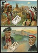 1910 Piedmont Tobacco World Smokers 10 Card Set Cigarette Advertisement Cards