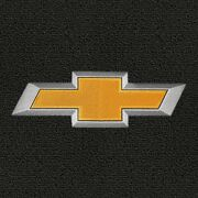 Chevy Ss 4 Pc Black Carpet Floor Mats W/gold Bowtie Logo On Fronts 2014-2016