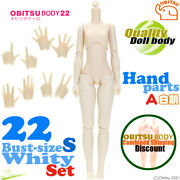 Obitsu 22cm Girl Body Whity S Size Bust And Hand Parts A Set Neemo Flection Doll