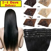 On Sale 100 Real Human Hair Clip In Soft Remy Full Head Hair Extensions Hq390
