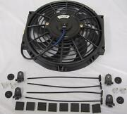 High Performance 10 Curved S-blade Electric Radiator Cooling Fan + Mounting Kit